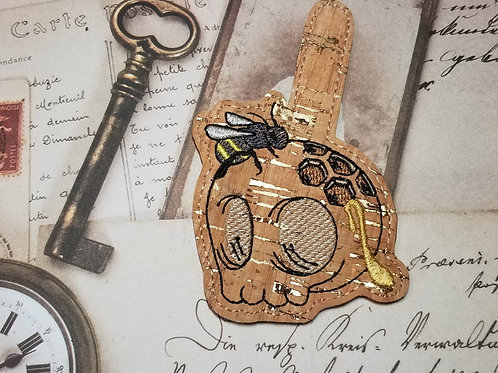 Honey Bee Skull Key Chain