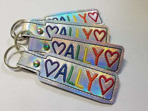 Rainbow Ally Key Chain