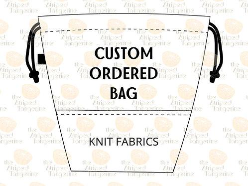 Drawstring Project Bag- Custom Order Knit Fabric CCL