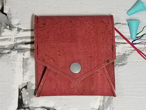 Pop Up Pouch - Maroon Cork