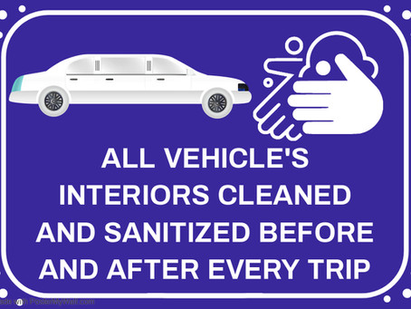 Limos are the Safe way to cruise! Cleaned and Sanitized for you and your guests.