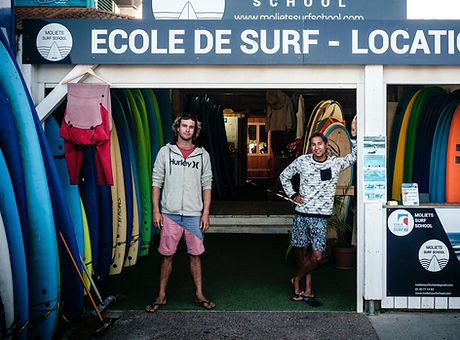 Beach-side surf school and board rental open from April till October, get down there and meet the bo
