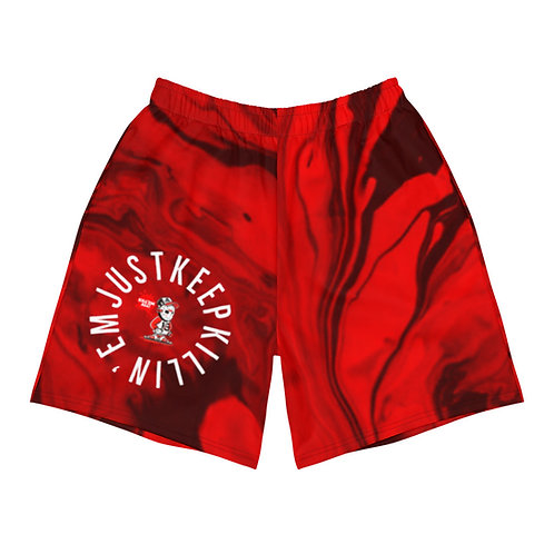 JUST KEEP KILLIN'EM Men's Athletic Long Shorts