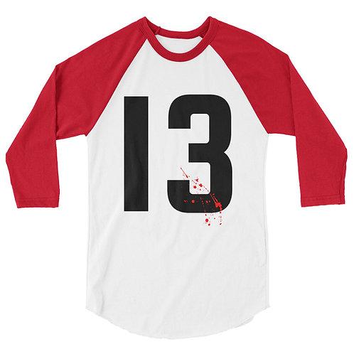 Kill'em All #13 3/4 sleeve raglan shirt