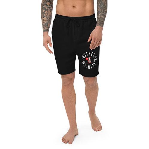 JUST KEEP KILLIN'EM Men's Fleece Shorts