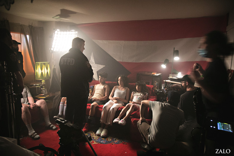 Night Scene BTS Brownsville Bred written and directed by Elaine Del Valle NYC 2021