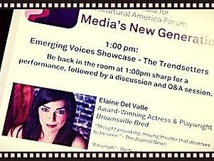 Emerging Artist, Elaine del valle, write