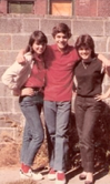 Elaine, Danny and Cousin Cynthia in Brownsville. Check out the backdrop