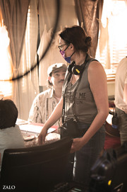 Elaine Del Valle directs 2021 on set NYC