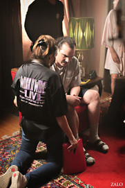 BTS Brownsville Bred Elaine Del Valle directing Javier Muñoz in the role of Manny
