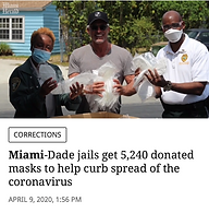 CPRF Donates PPE (Face Masks) to Curb spread of Coronavirus in Miami-Dade County Jails