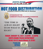 """CPRF Teams with North Miami Police in honor of Martin Luther King, Jr. for """"Hot Food Distribution"""""""