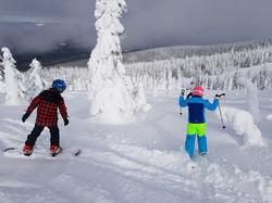 Having fun amongst the snow ghosts!