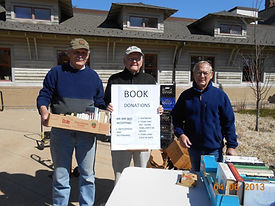 Friends book donation day 4-6-13.jpg