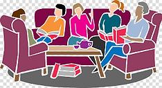 2021 Friends web book discussion clipart
