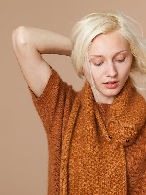 Mink Scarf with Mohair