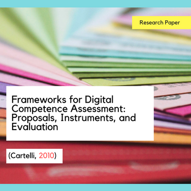 Frameworks for Digital Competence Assessment: Proposals, Instruments, and Evaluation