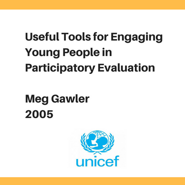 Useful Tools for Engaging Young People in Participatory Evaluation