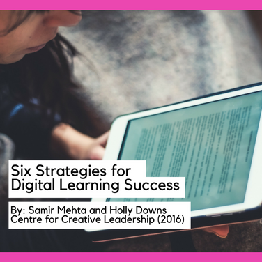 Six Strategies for Digital Learning Success