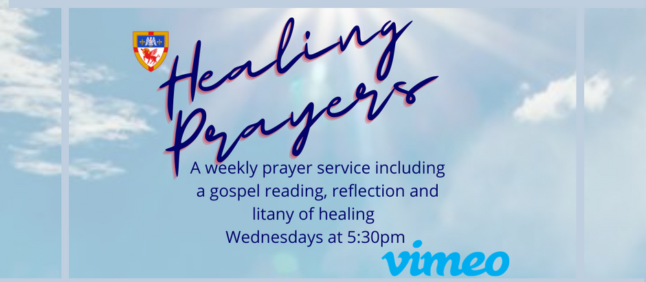 December 30: Healing Prayers service at 5:30pm on Vimeo