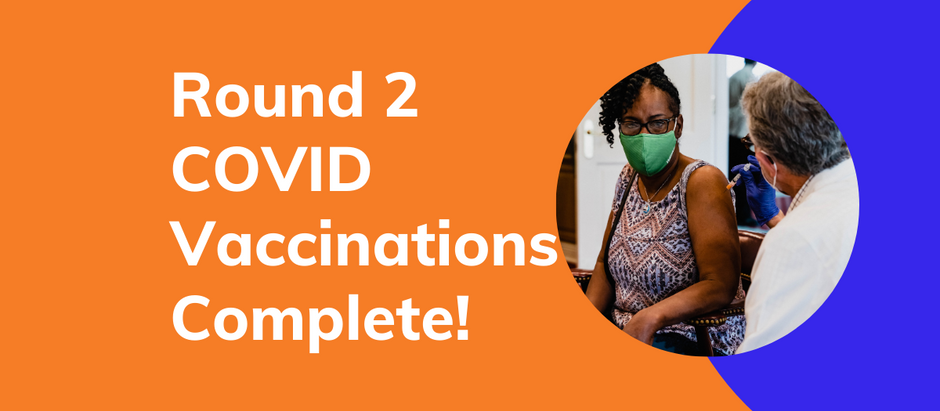COVID vaccines complete: A very special thank you!
