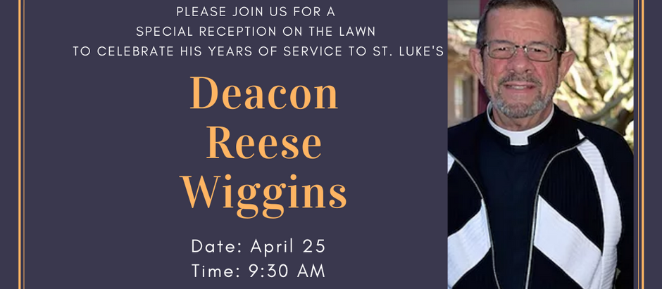 Join us for a celebration in honor of Dn. Reese