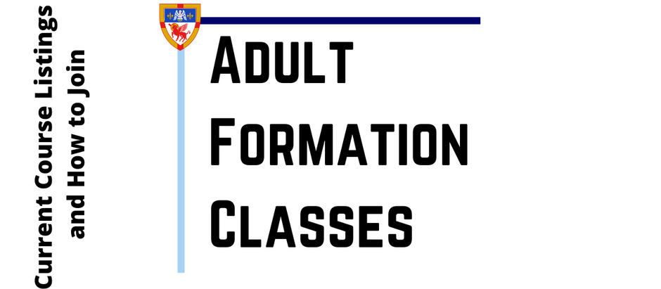 Spring 2021 Adult Formation News and Offerings