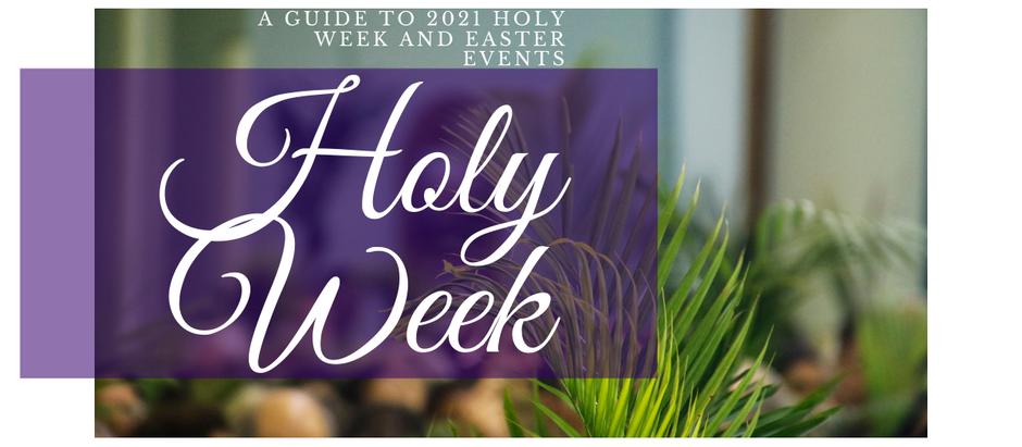2021 Holy Week Schedule