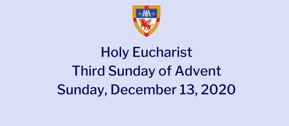 Advent 3: Sunday, December 13, 2020 Service @ 10:30 am on Vimeo