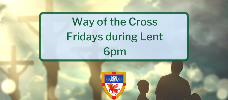 Join Deacon Reese on Fridays during Lent at 6pm for the Way of the Cross