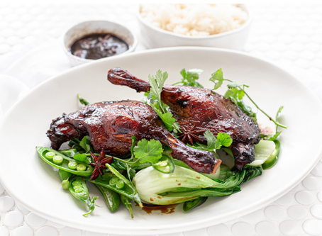 Glazed asian duck legs