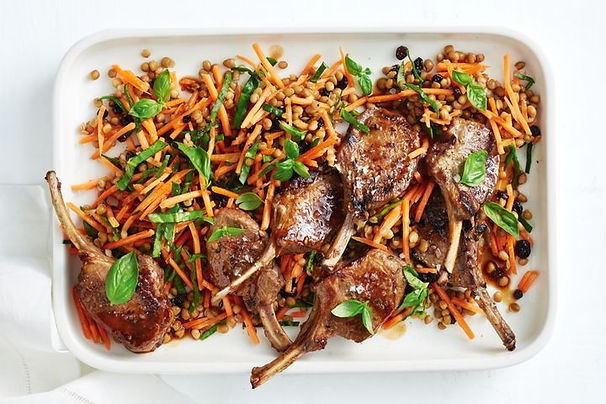 sticky-honey-lamb-with-carrot-and-lentil
