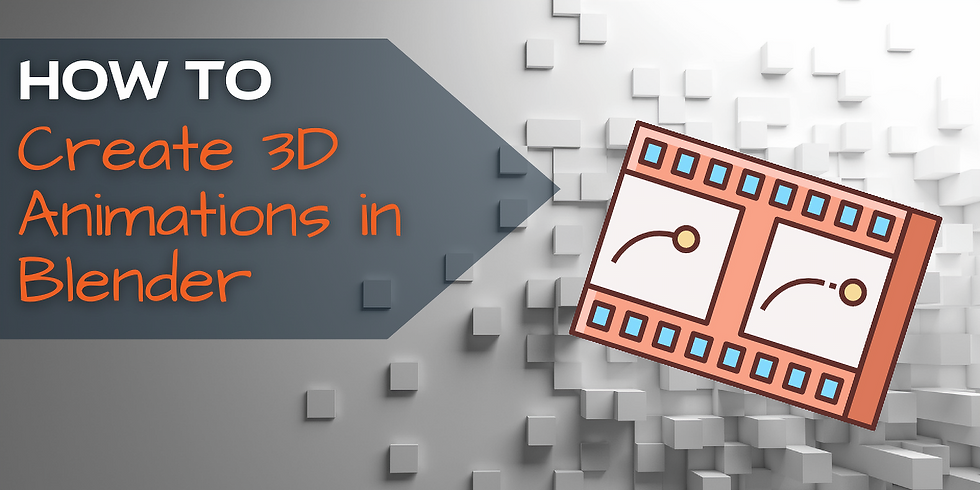How to Create 3D Animations in Blender