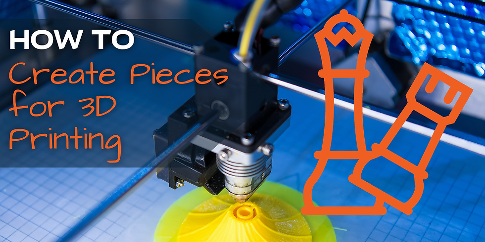 How to Create Pieces for 3D Printing