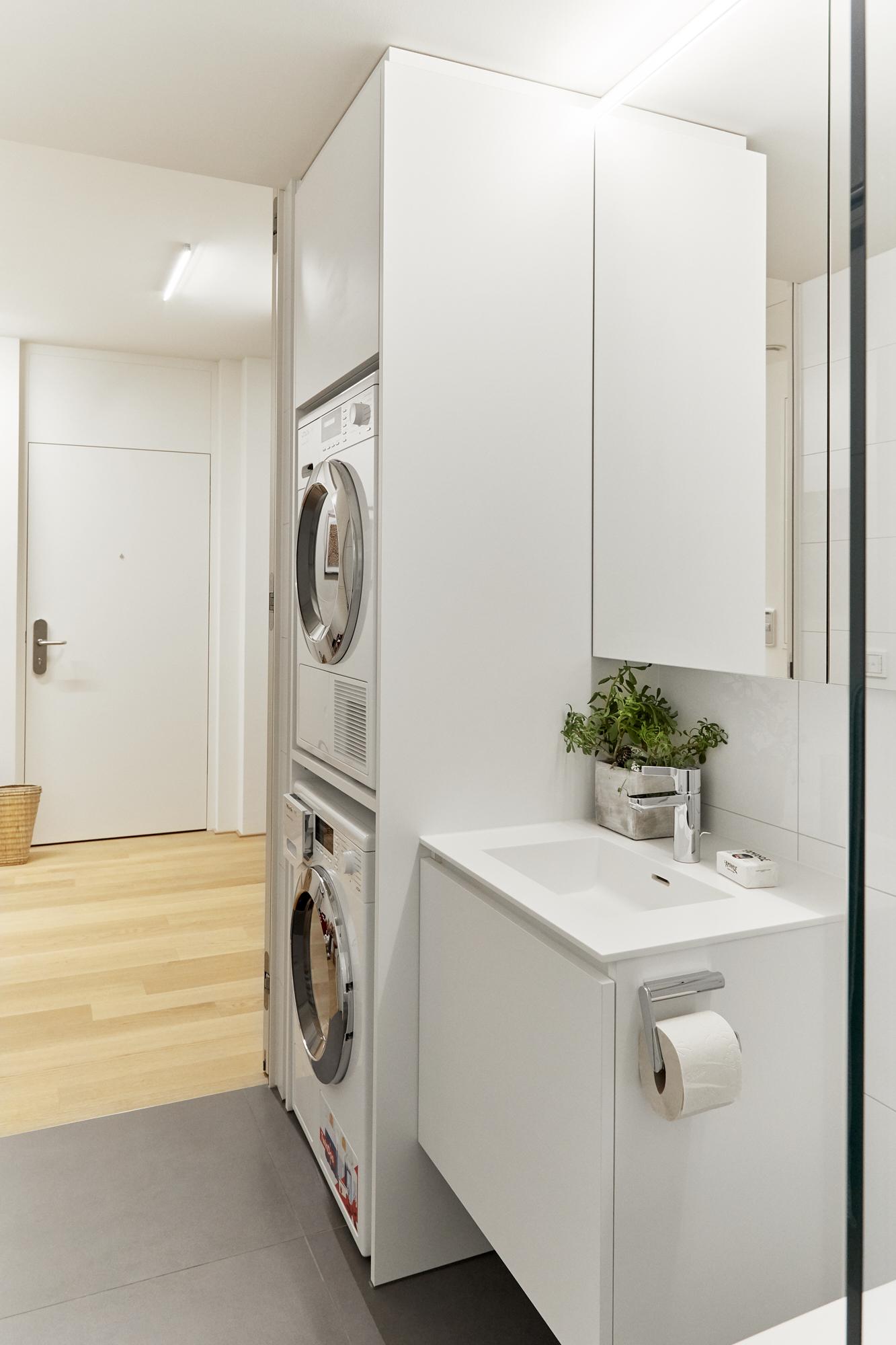 Waschmaschine eingebaut