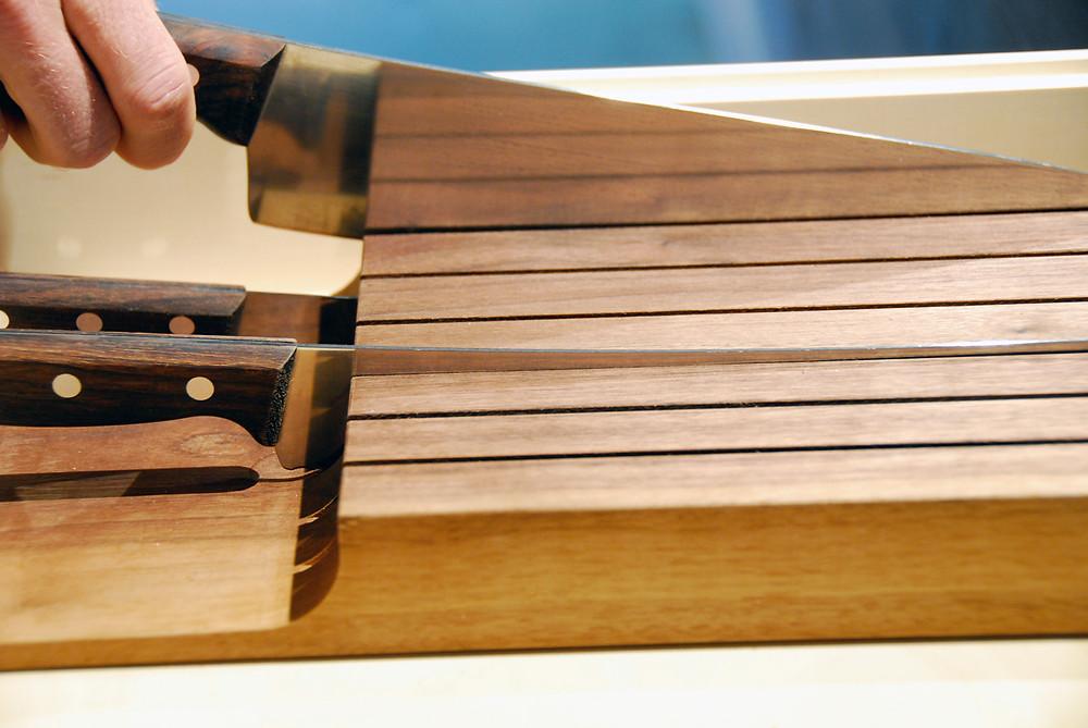 Messerblock / knife block / Wolfgang Lässer