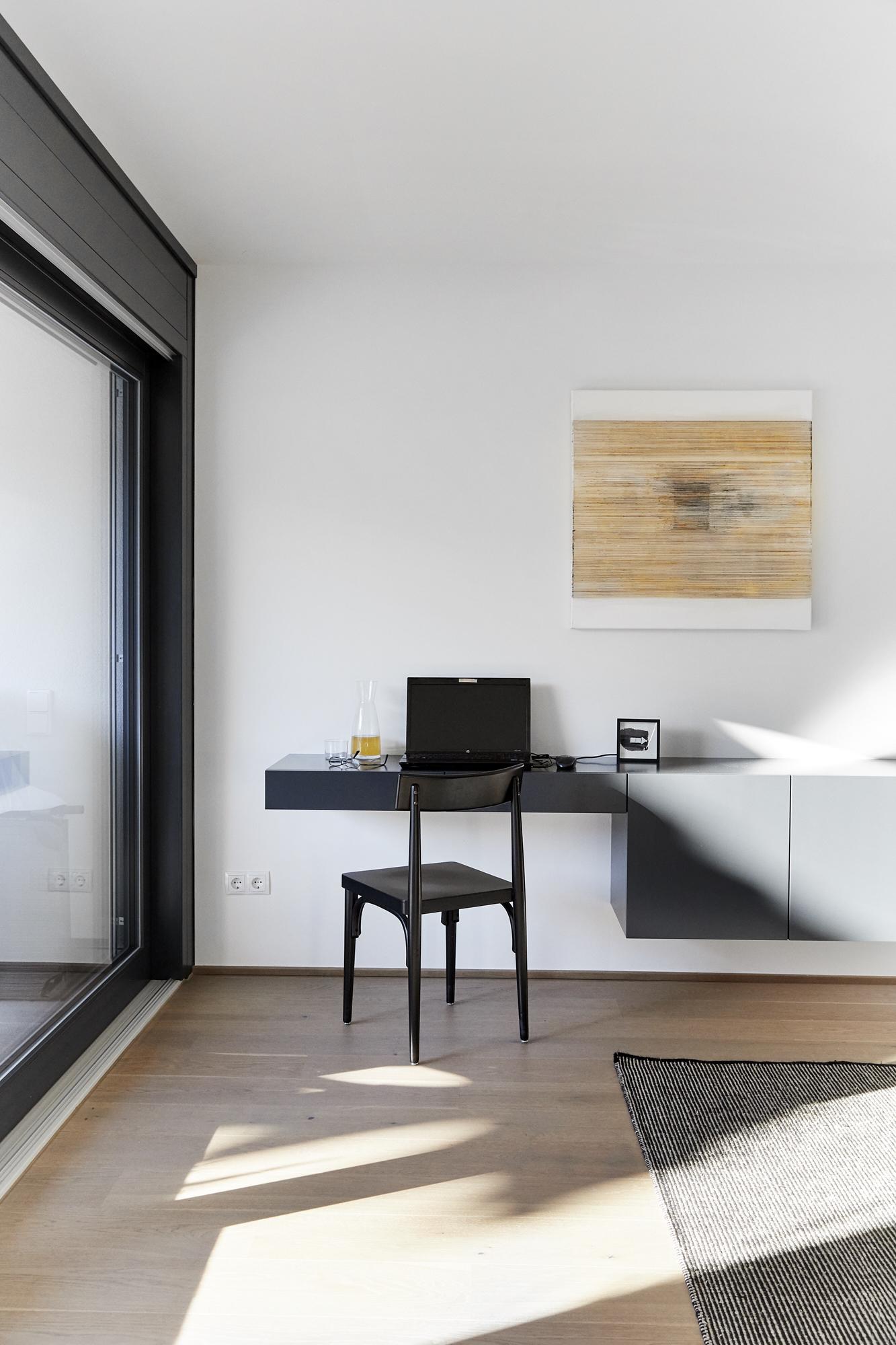 Arbeitsplatz Wohnzimmer