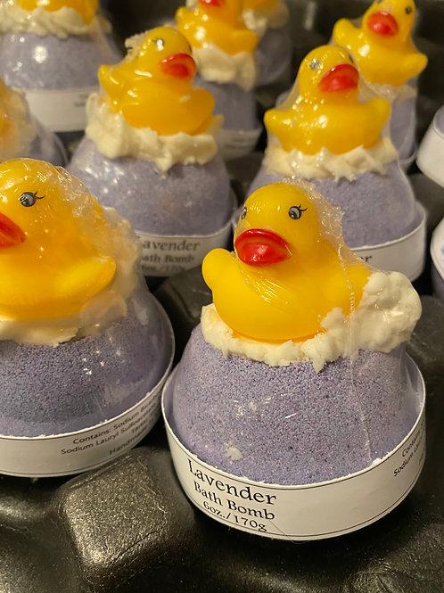 Lavender Rubber Ducky Bath Bomb