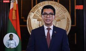 President Andry Rajoelina in aura