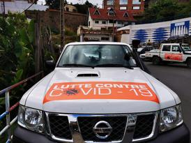 """Lutte contre COVID-19"" car fleet"
