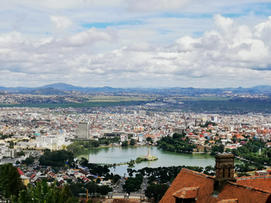 Stunning view of Antananarivo from the above