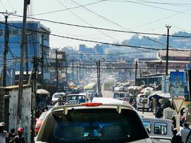 Traffic jam in the middle of Antananarivo