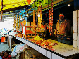 Butcher at Analakely market