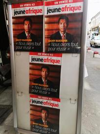 Andry Rajoelina on the cover of Jeune Afrique magazine