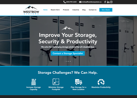 Westbow Systems Website Design - Calgary