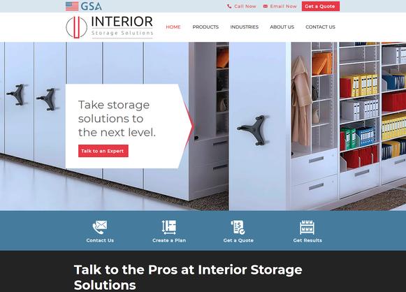 Interior Storage Solutions Website Desig