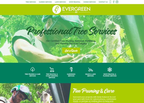 Evergreen Ltd Website Design - Calgary -