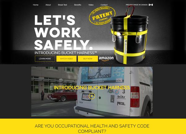 Bucket Harness Website Design - Calgary