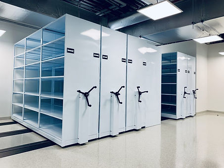 Mechanical Assist Mobile Shelving