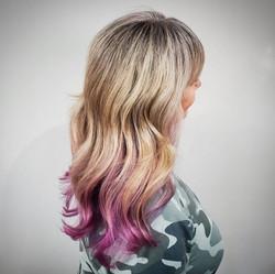 Purple Tips Hairstyle - Liv Hair - Calga